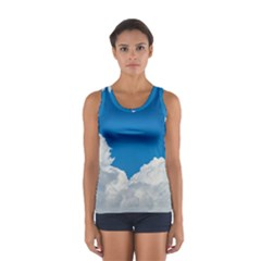 Sky Clouds Blue White Weather Air Women s Sport Tank Top