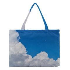Sky Clouds Blue White Weather Air Medium Tote Bag