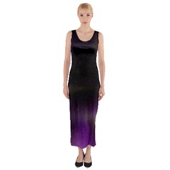 The Northern Lights Nature Fitted Maxi Dress