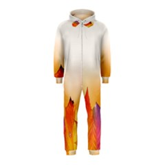 Autumn Leaves Colorful Fall Foliage Hooded Jumpsuit (Kids)
