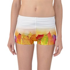 Autumn Leaves Colorful Fall Foliage Reversible Bikini Bottoms
