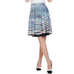Wave Concentric Waves Circles Water A-Line Skirt