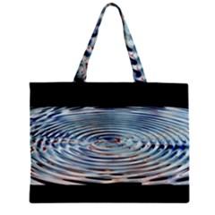 Wave Concentric Waves Circles Water Zipper Mini Tote Bag