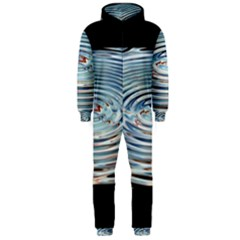 Wave Concentric Waves Circles Water Hooded Jumpsuit (Men)