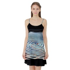 Wave Concentric Waves Circles Water Satin Night Slip