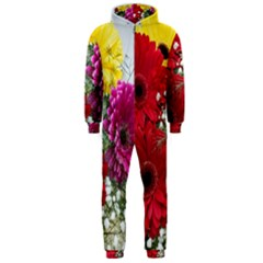 Flowers Gerbera Floral Spring Hooded Jumpsuit (Men)
