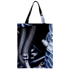 Motorcycle Details Zipper Classic Tote Bag