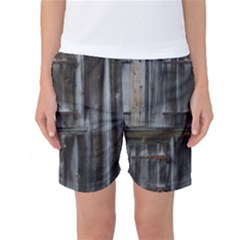 Alpine Hut Almhof Old Wood Grain Women s Basketball Shorts