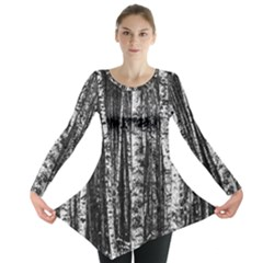 Birch Forest Trees Wood Natural Long Sleeve Tunic