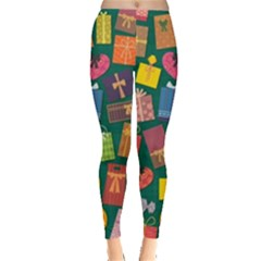 Presents Gifts Background Colorful Leggings