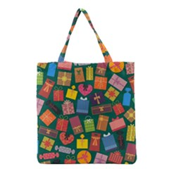 Presents Gifts Background Colorful Grocery Tote Bag