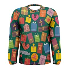 Presents Gifts Background Colorful Men s Long Sleeve Tee