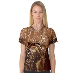 Ice Iced Structure Frozen Frost Women s V-Neck Sport Mesh Tee