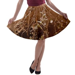 Ice Iced Structure Frozen Frost A-line Skater Skirt