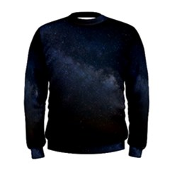 Cosmos Dark Hd Wallpaper Milky Way Men s Sweatshirt