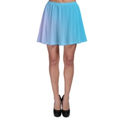 Background Graphics Lines Wave Skater Skirt