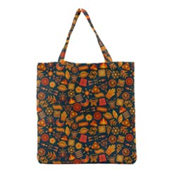 Pattern Background Ethnic Tribal Grocery Tote Bag