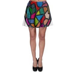 Stained Glass Color Texture Sacra Skater Skirt