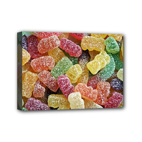 Jelly Beans Candy Sour Sweet Mini Canvas 7  x 5