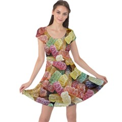 Jelly Beans Candy Sour Sweet Cap Sleeve Dresses