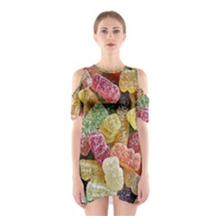 Jelly Beans Candy Sour Sweet Shoulder Cutout One Piece