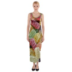 Jelly Beans Candy Sour Sweet Fitted Maxi Dress