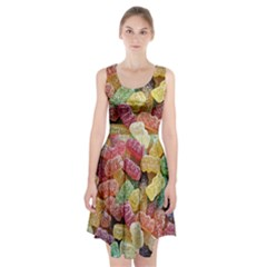 Jelly Beans Candy Sour Sweet Racerback Midi Dress