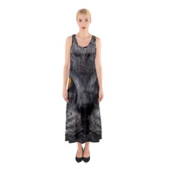 Cat Eyes Background Image Hypnosis Sleeveless Maxi Dress