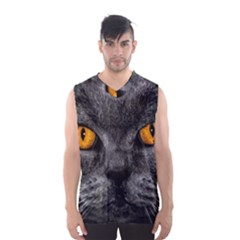 Cat Eyes Background Image Hypnosis Men s Basketball Tank Top