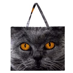 Cat Eyes Background Image Hypnosis Zipper Large Tote Bag