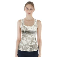 Wall Rock Pattern Structure Dirty Racer Back Sports Top