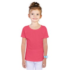 Neon Color   Brilliant Amaranth Kids  One Piece Tee