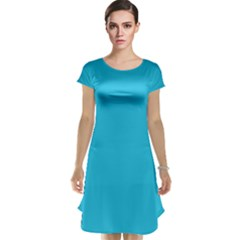 Neon Color - Brilliant Arctic Blue Cap Sleeve Nightdress