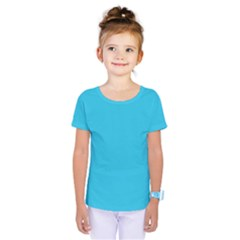 Neon Color   Brilliant Arctic Blue Kids  One Piece Tee