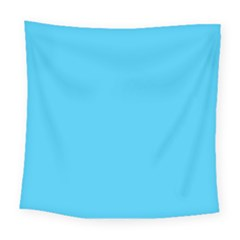 Neon Color   Brilliant Cerulean Square Tapestry (large)