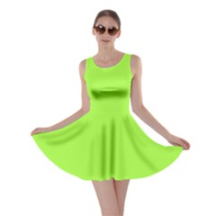 Neon Color - Brilliant Charteuse Green Skater Dress