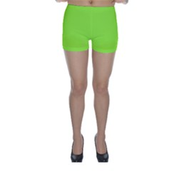 Neon Color - Brilliant Charteuse Green Skinny Shorts