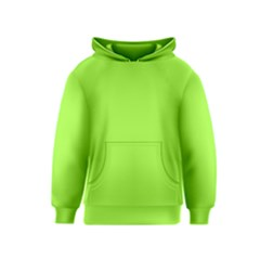 Neon Color - Brilliant Charteuse Green Kids  Pullover Hoodie