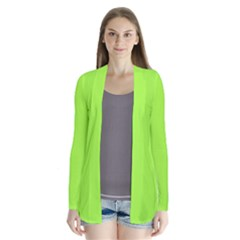 Neon Color   Brilliant Charteuse Green Cardigans