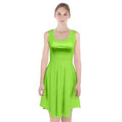 Neon Color   Brilliant Charteuse Green Racerback Midi Dress