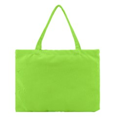 Neon Color   Brilliant Charteuse Green Medium Tote Bag