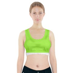 Neon Color   Brilliant Charteuse Green Sports Bra With Pocket