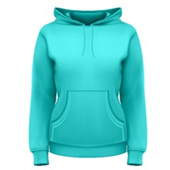 Neon Color - Brilliant Cyan Women s Pullover Hoodie