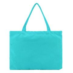 Neon Color   Brilliant Cyan Medium Tote Bag