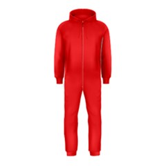 Neon Color - Brilliant Red Hooded Jumpsuit (Kids)