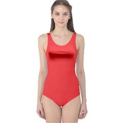 Neon Color - Brilliant Red One Piece Swimsuit