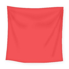 Neon Color   Brilliant Red Square Tapestry (large)