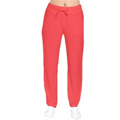 Neon Color   Brilliant Red Drawstring Pants