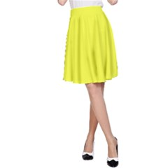 Neon Color - Brilliant Yellow A-Line Skirt