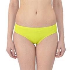 Neon Color - Brilliant Yellow Hipster Bikini Bottoms